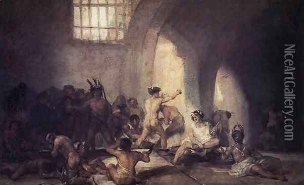The Madhouse 2 Oil Painting - Francisco De Goya y Lucientes