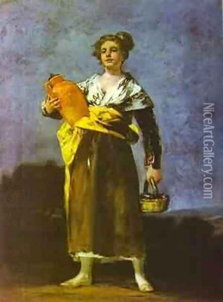 Girl With A Jug (Aguadora) Oil Painting - Francisco De Goya y Lucientes