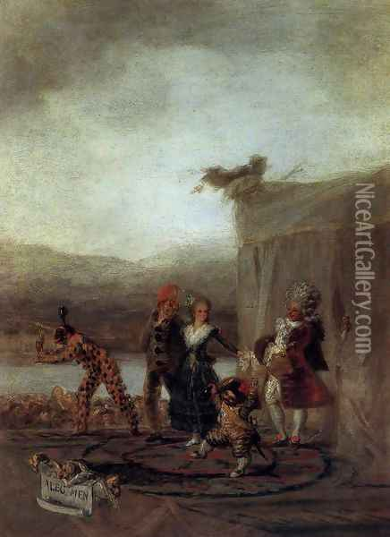 The Strolling Players Oil Painting - Francisco De Goya y Lucientes