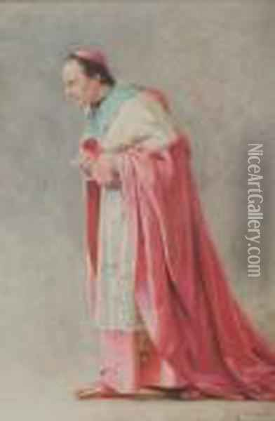 The Cardinal Oil Painting - Jehan Georges Vibert