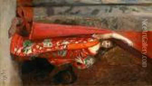 The Kimono Oil Painting - Jehan Georges Vibert
