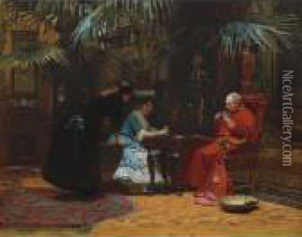 Church In Danger Oil Painting - Jehan Georges Vibert