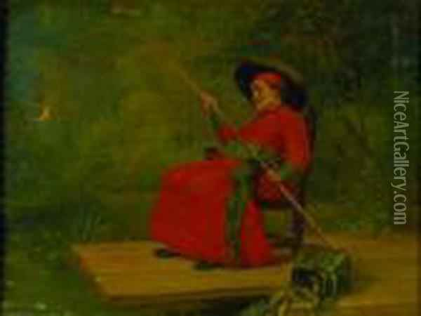 Catch Of The Day Oil Painting - Jehan Georges Vibert