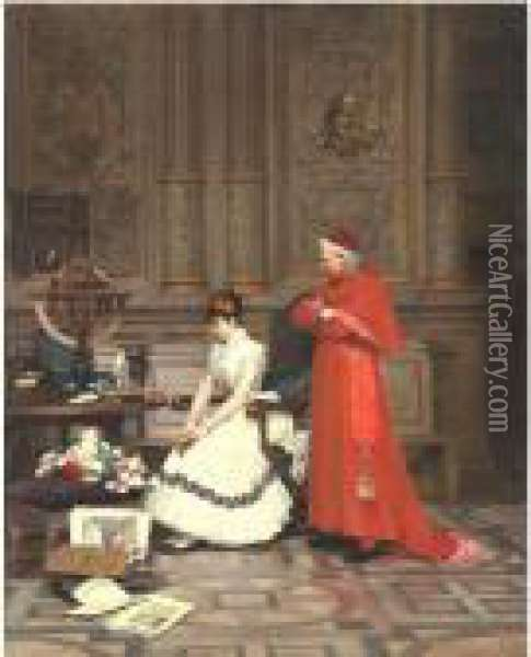The Reproach Oil Painting - Jehan Georges Vibert