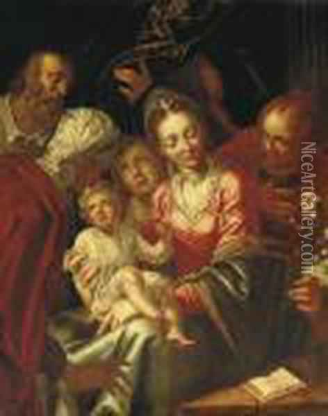 The Holy Family Oil Painting - Hans Von Aachen