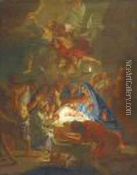 Adoration Of The Shepherds Oil Painting - Hans Von Aachen