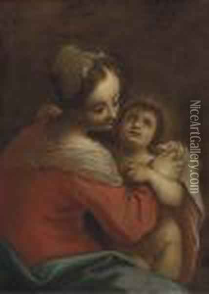 The Virgin And Child Oil Painting - Hans Von Aachen