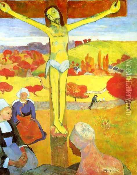Yellow Christ Oil Painting - Paul Gauguin