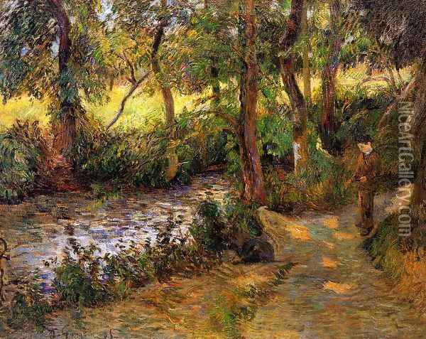 Boy By The Water Oil Painting - Paul Gauguin