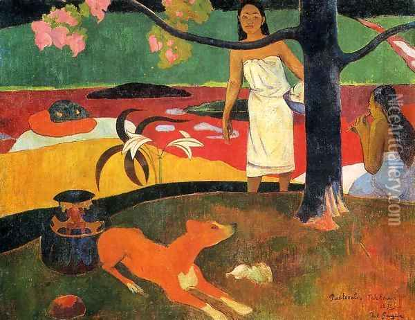 Tahitian Pastorals Oil Painting - Paul Gauguin