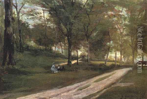 In the Forest, Saint-Cloud II Oil Painting - Paul Gauguin