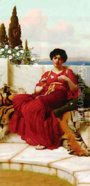 Mischief Oil Painting - John William Godward