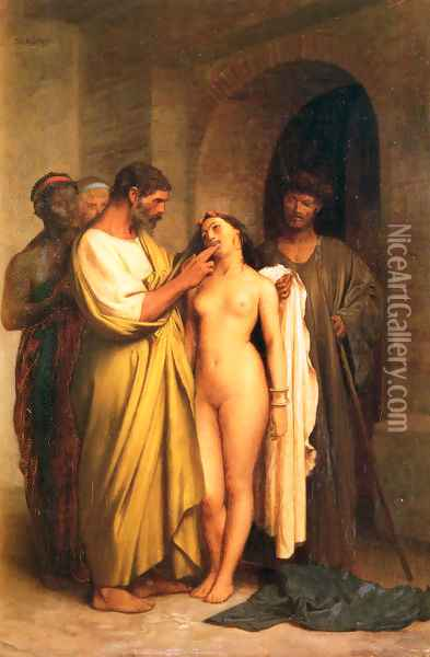 Achat D'Une Esclave (Purchase Of A Slave) Oil Painting - Jean-Leon Gerome