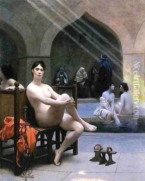 The Women's Bath Oil Painting - Jean-Leon Gerome