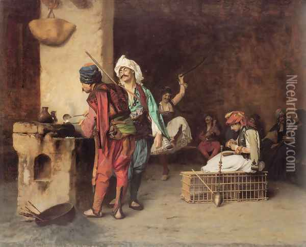 A Café in Cairo Oil Painting - Jean-Leon Gerome
