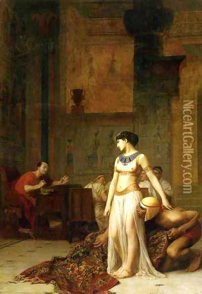 Caesar and Cleopatra Oil Painting - Jean-Leon Gerome