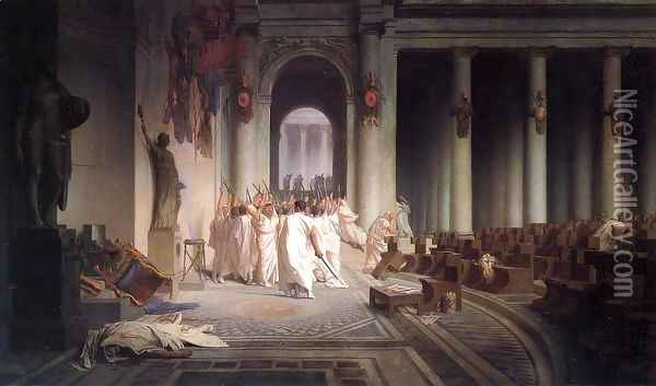 The Death of Caesar Oil Painting - Jean-Leon Gerome