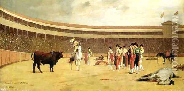 Bull and Picador Oil Painting - Jean-Leon Gerome