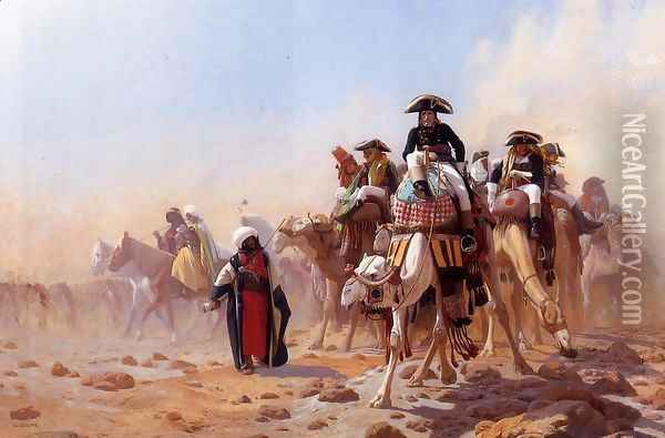 Napoleon and His General Staff Oil Painting - Jean-Leon Gerome