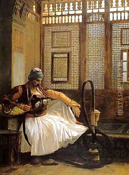 Arnaut Smoking Oil Painting - Jean-Leon Gerome