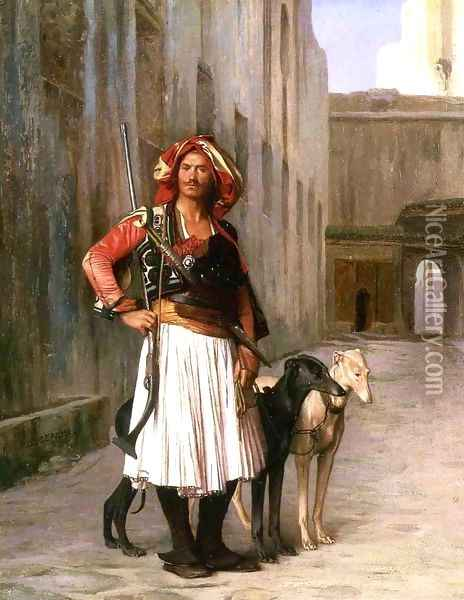 Arnaut from Cairo Oil Painting - Jean-Leon Gerome