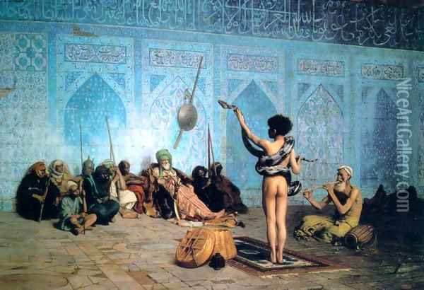 The Serpent Charmer Oil Painting - Jean-Leon Gerome