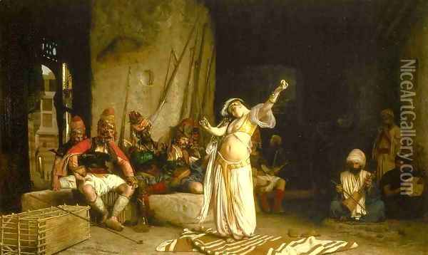 The Dance Of The Almeh Oil Painting - Jean-Leon Gerome