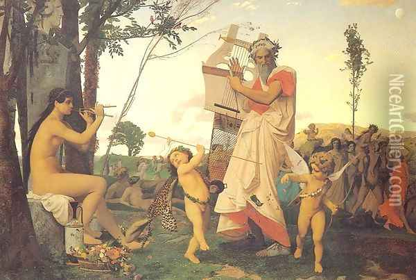 Anacreon, Bacchus, and Amor Oil Painting - Jean-Leon Gerome