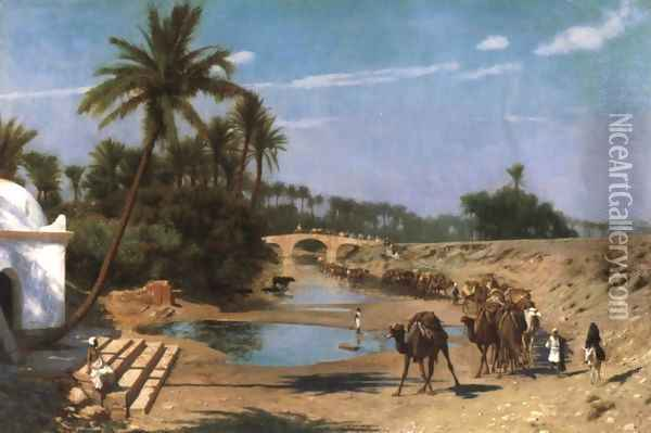 Caravan (or A Journey Through Algeria) Oil Painting - Jean-Leon Gerome