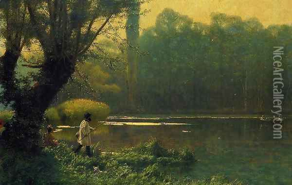 Summer Afternoon on a Lake Oil Painting - Jean-Leon Gerome