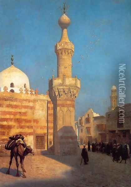 View Of Cairo Ii Oil Painting - Jean-Leon Gerome