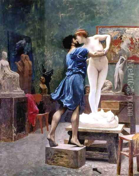 Pygmalion and Galatea (study) Oil Painting - Jean-Leon Gerome