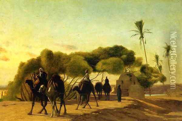 Dam on the Nile Oil Painting - Jean-Leon Gerome