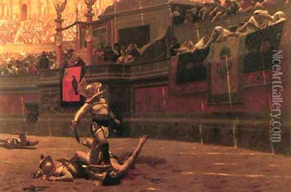 Gladiators Oil Painting - Jean-Leon Gerome