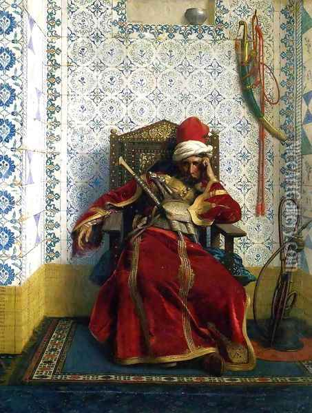 Markos Botsaris Oil Painting - Jean-Leon Gerome