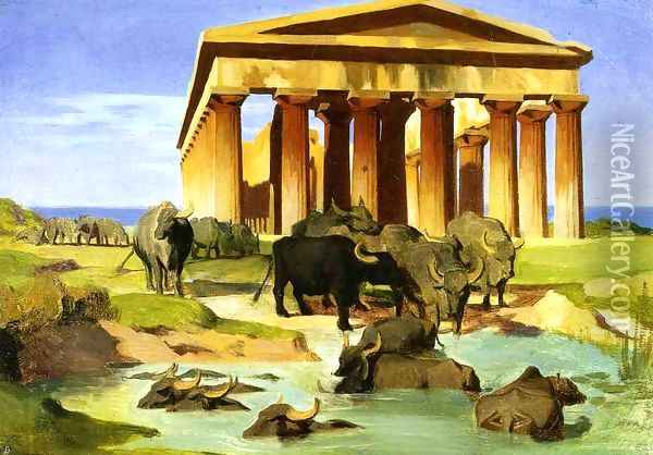 View Of Paestum Oil Painting - Jean-Leon Gerome