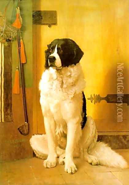 Study Of A Dog Oil Painting - Jean-Leon Gerome