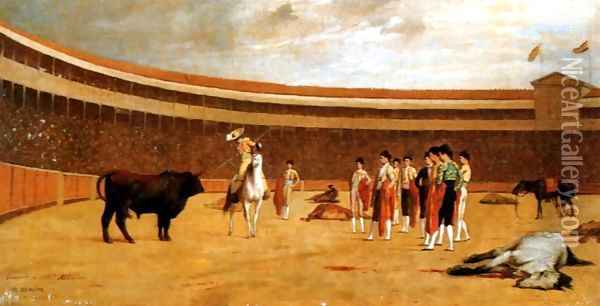 The Picador Oil Painting - Jean-Leon Gerome