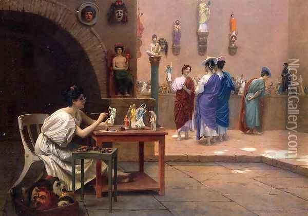 Painting Breathes Life Into Sculpture Oil Painting - Jean-Leon Gerome