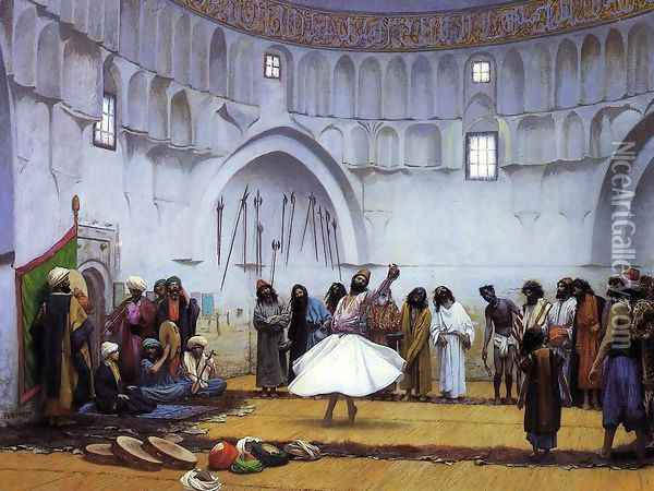 Whirling Dervishes Oil Painting - Jean-Leon Gerome