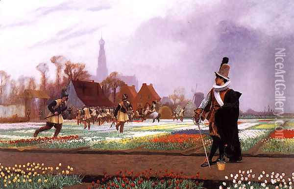 The Tulip Folly Oil Painting - Jean-Leon Gerome