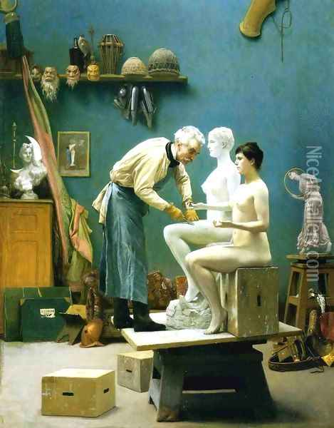 Working in Marble Oil Painting - Jean-Leon Gerome