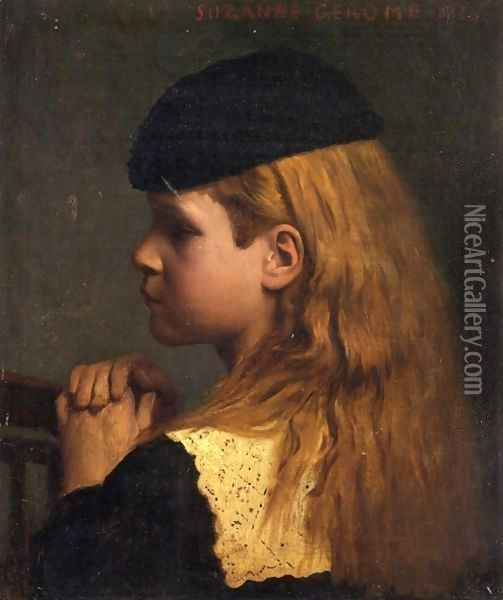 Portrait of a Girl Oil Painting - Jean-Leon Gerome