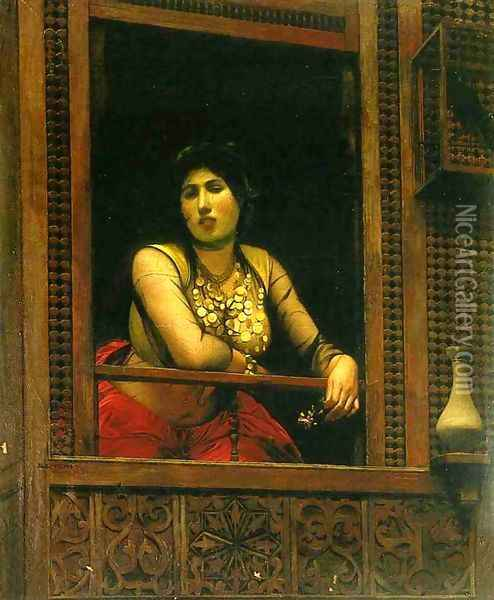 Woman at Her Window Oil Painting - Jean-Leon Gerome