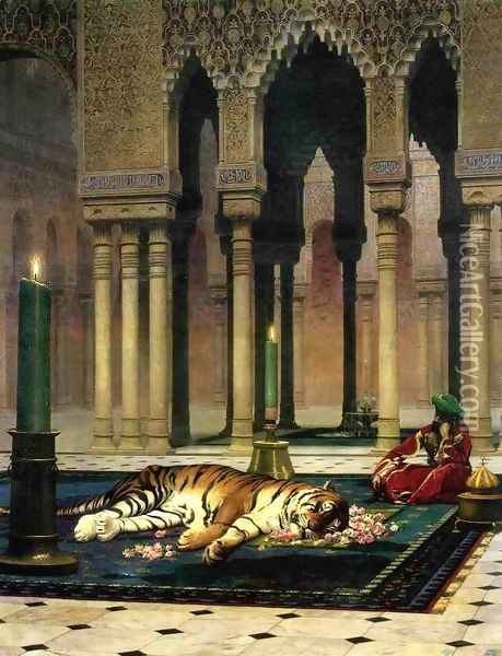 The Pasha's Sorrow Oil Painting - Jean-Leon Gerome