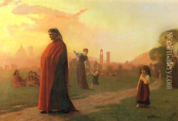 Dante (He Hath Seen Well) Oil Painting - Jean-Leon Gerome