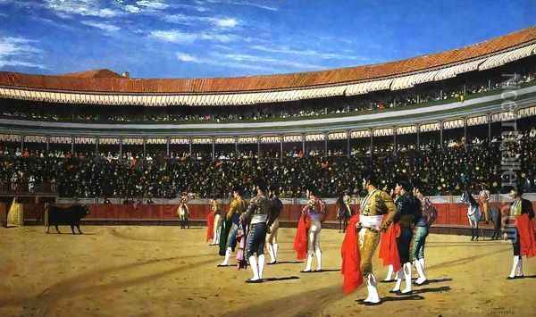 The Entrance of the Bull Oil Painting - Jean-Leon Gerome