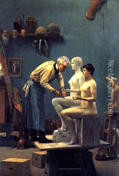 The Artist's Model Oil Painting - Jean-Leon Gerome