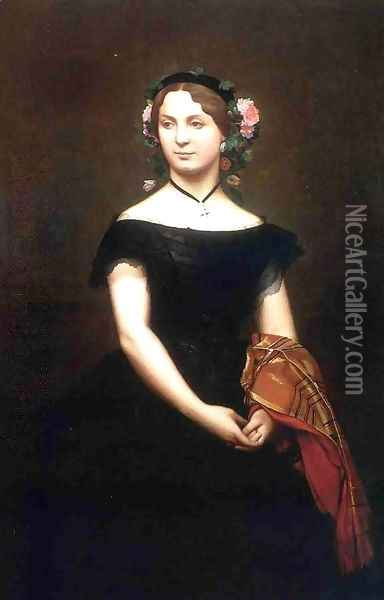 Portrait of Mlle Durand (or Madame Duvergier) Oil Painting - Jean-Leon Gerome