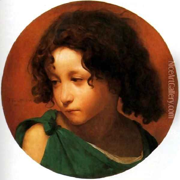 Portrait of a Young Boy Oil Painting - Jean-Leon Gerome